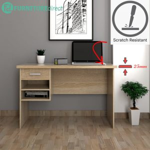 [CLEARANCE] ED2025 JOLIN 4 Feet Study desk in 25mm melamine top