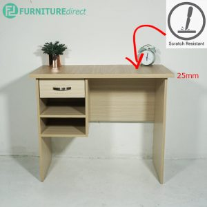 [CLEARANCE] ED2025 JOLIN 3 Feet Study desk in 25mm melamine top