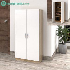 ESCOT 4 feet shoe cabinet with adjustable shelves