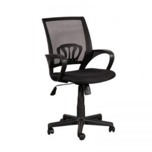 LOW BACK MESH OFFICE CHAIR - BLACK