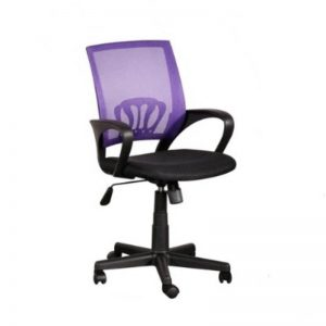 LOW BACK MESH OFFICE CHAIRS - PURPLE