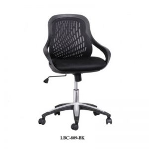 LOW BACK FABRIC OFFICE CHAIR - BLACK