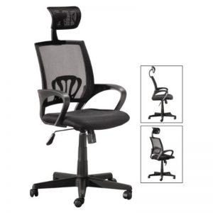 HBC-124A-BK -High Back Office Chair - Black