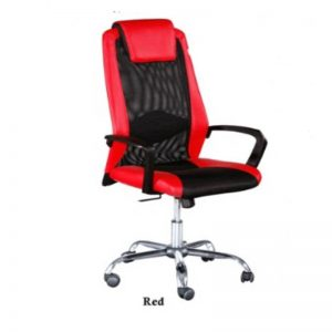 HIGH BACK MESH&PVC OFFICE CHAIR - RED