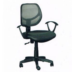 LOW BACK MESH OFFICE CHAIRS- BLACK