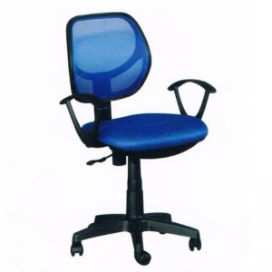 LOW BACK MESH OFFICE CHAIR -BLUE