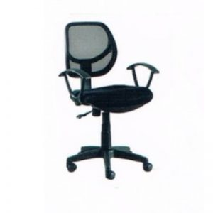 LOW BACK MESH OFFICE CHAIR - GREY