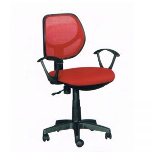 LOW BACK MESH OFFICE CHAIR - RED