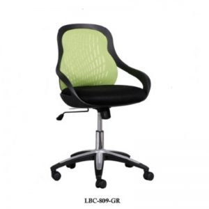 LOW BACK FABRIC OFFICE CHAIR - GREEN