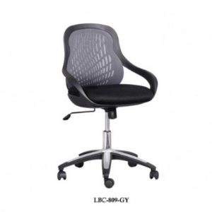 LOW BACK FABRIC OFFICE CHAIR - GREY