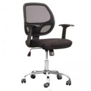 LOW BACK OFFICE CHAIR - BLACK
