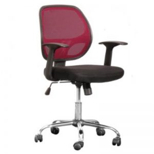 LOW BACK OFFICE CHAIR - RED