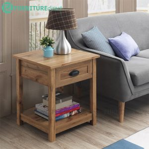 [CLEARANCE] MARCER rustic look 1 drawer side table