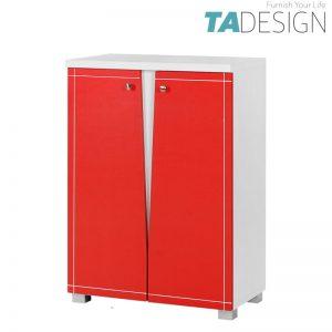TAD NABILA 2 door shoe rack cabinet - Red
