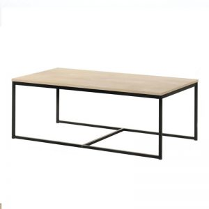 Tango Solid Wood Coffee Table with Metal Leg -  NW