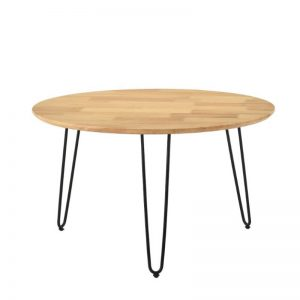 Coffee Table with Metal Leg - Natural