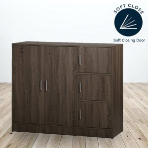 OXFORD 5 doors children wardrobe with soft closing door