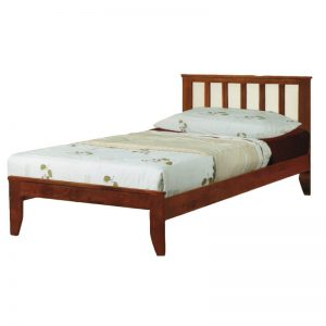 WOODEN SINGLE BED WITH SLAT BASE - 3FT