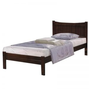 WOODEN SINGLE BED WITH ROLLING BASE - 3FT