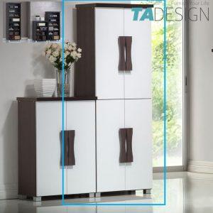 STACEY 4 doors shoe rack cabinet-White