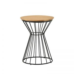 Kemy Side Table with Metal Leg