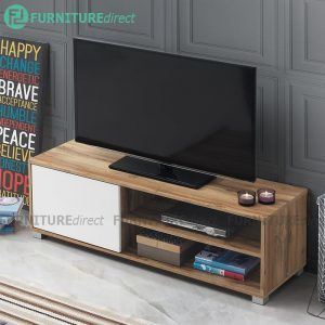 [CLEARANCE] STONOR 1 door 4 feet TV cabinet-Wotan Oak