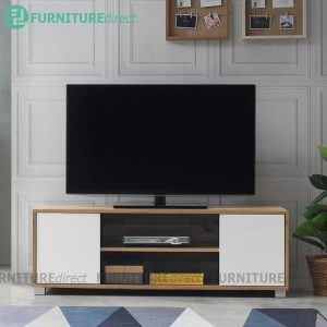 STONOR 4 feet 2 Door TV cabinet-Wotan Oak