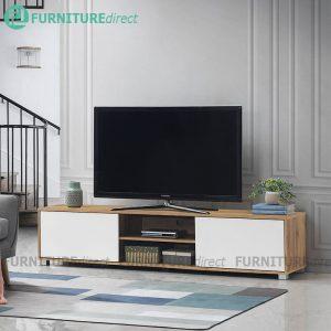 STONOR 2 door 6 feet TV cabinet-Wotan Oak