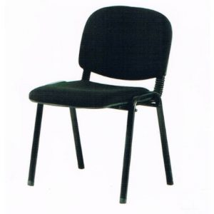 VISITOR FABRIC OFFICE CHAIR - BLACK