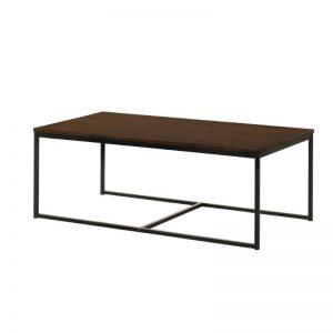 Tango Solid Wood Coffee Table with Metal Leg - Walnut