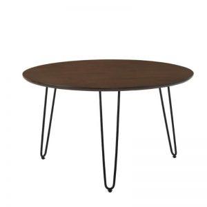 Coffee Table with Metal Leg - Walnut