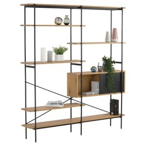 Kreman Wall Unit with Oak colour shelf