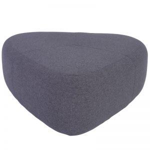 Cirrus Big Triangle Pouf - Grey Color