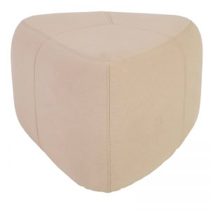 Cirrus High Triangle Pouf - Indian Red