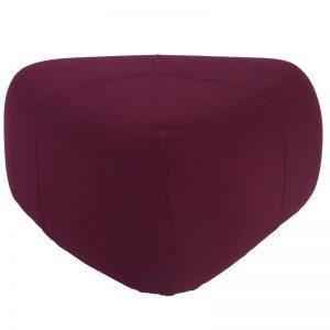 Cirrus Medium Triangle Pouf - Ruby