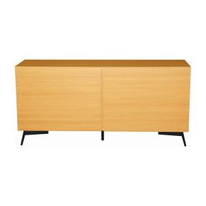 Akon solid oak veneer sideboard-Natural