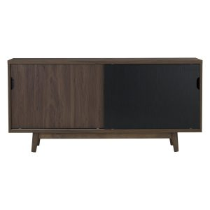 Anas sliding door sideboard with 4 drawers-walnut