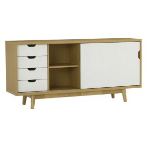 Anas sliding door sideboard with 4 drawers