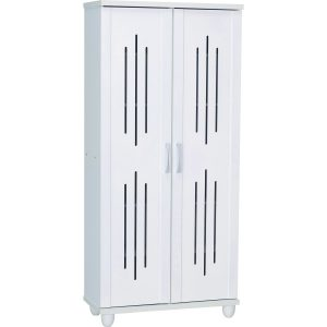 Hasting 2 Door high shoe cabinet-white