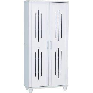 Hasting 2 Door high shoe cabinet-white