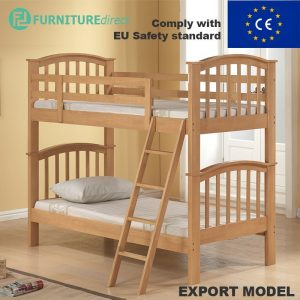 BARBICAN solid wooden single size bunk bed