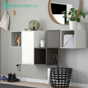 DIYA  wall mounted and stackable storage cube cabinet