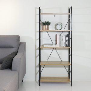 FELIX 5 Tier metal frame book shelf