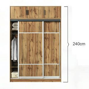 Flexi 81 Sliding Wardrobe with top cabinet