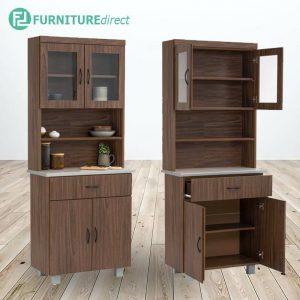 Frey 80cm Kitchen Cabinet- walnut