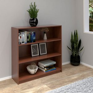 HADI 3 Tier bookcase-Cherry