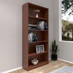 [CLEARANCE] HADI 5 Tier bookcase-Cherry