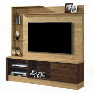 TV Cabinet with Wall Panel