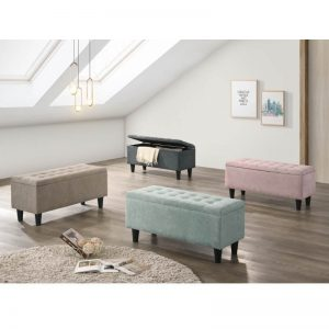 Mamba Storage Bench Chair – Grey