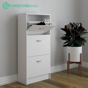 PHILIP space saver 3 doors shoe cabinet-white